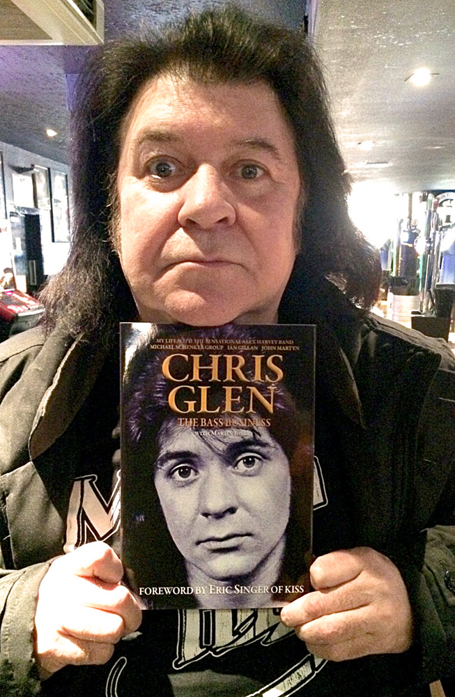 Chris Glen with book